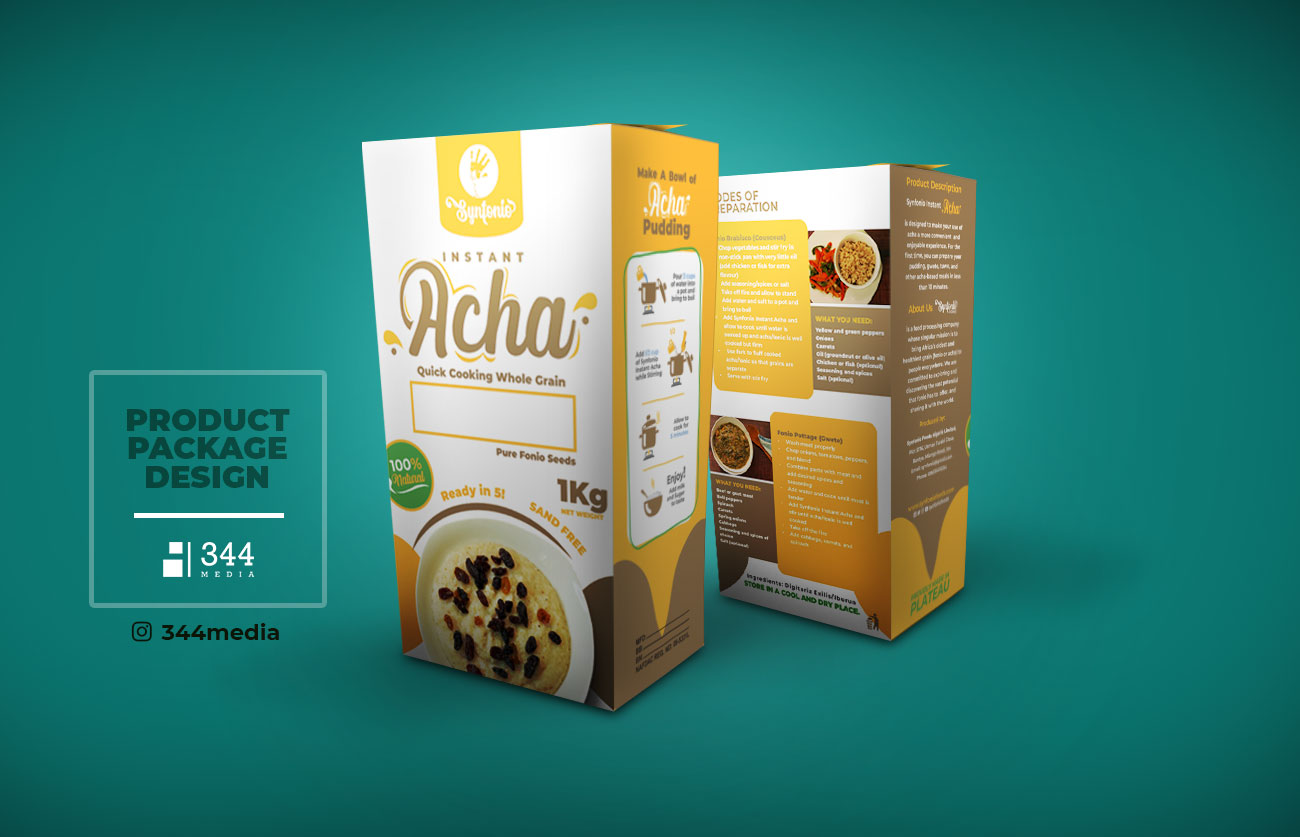 Synfonio Foods: Acha Product Package