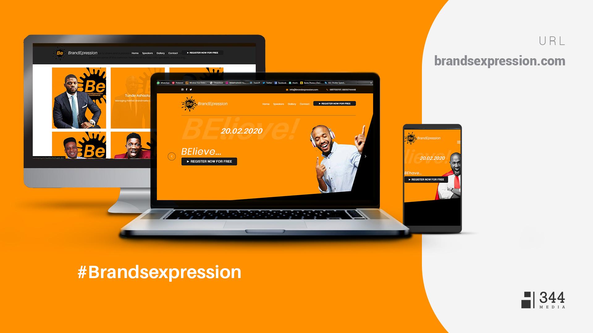 BrandsExpression Event Website